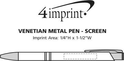 Imprint Area of Venetian Metal Pen - Screen