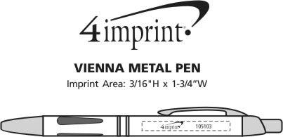Imprint Area of Vienna Metal Pen