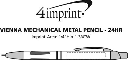 Imprint Area of Vienna Metal Mechanical Pencil - 24 hr