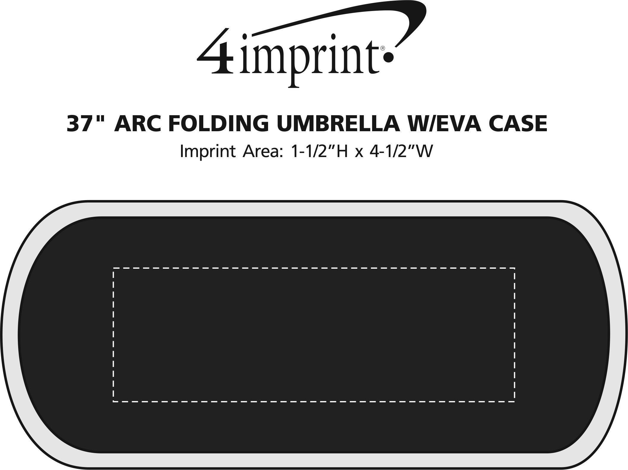 "Imprint Area of Mini Folding Umbrella with EVA Case - 37"" Arc"
