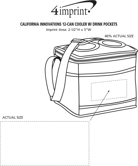 Imprint Area of California Innovations 12-Can Cooler with Drink Pockets