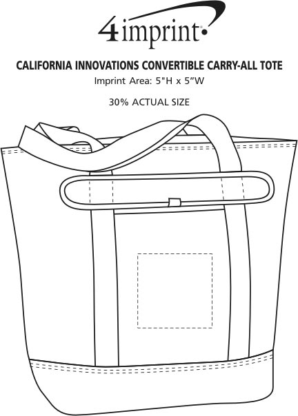Imprint Area of California Innovations Convertible Carry-All Tote