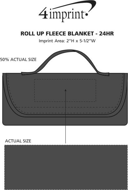Imprint Area of Roll Up Fleece Blanket - 24 hr