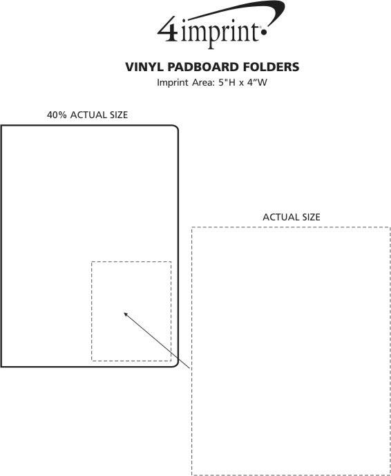 Imprint Area of Vinyl Padboard Folder