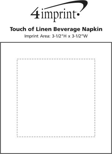 Imprint Area of Touch of Linen Beverage Napkin