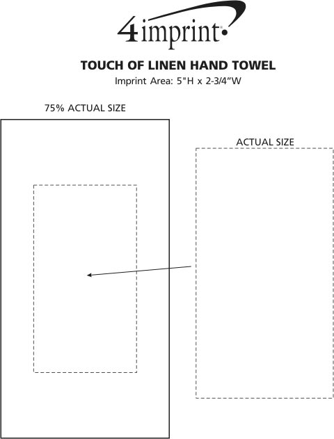 Imprint Area of Touch of Linen Hand Towel