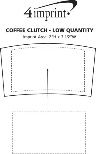Imprint Area of Coffee Clutch - Low Qty
