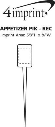Imprint Area of Appetizer Pik - Rectangle