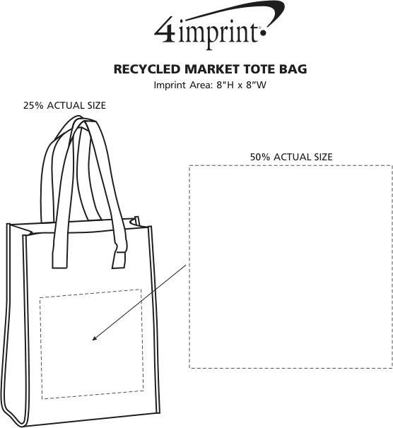 Imprint Area of Recycled Cotton Market Tote