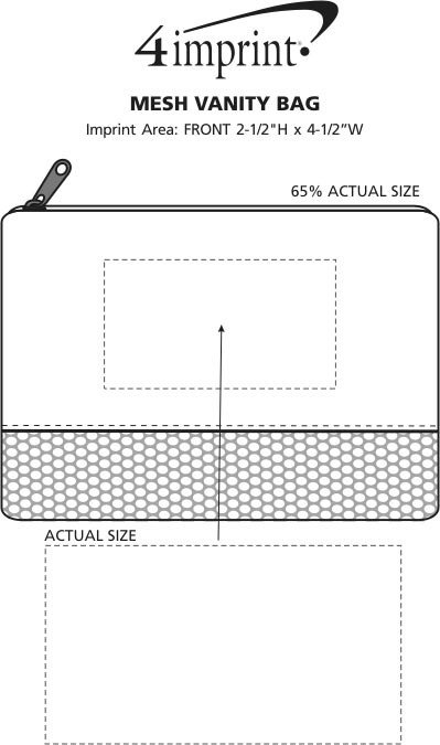 Imprint Area of Mesh Vanity Bag