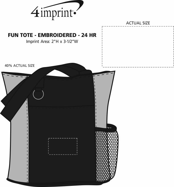 Imprint Area of Fun Tote - Embroidered - 24 hr