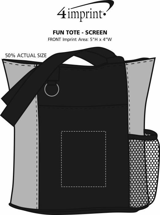 Imprint Area of Fun Tote - Screen