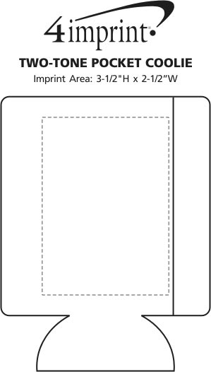 Imprint Area of Two-Tone Pocket Can Holder
