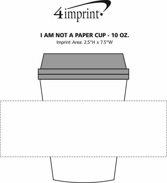 Imprint Area of I Am Not A Paper Cup - 10 oz.