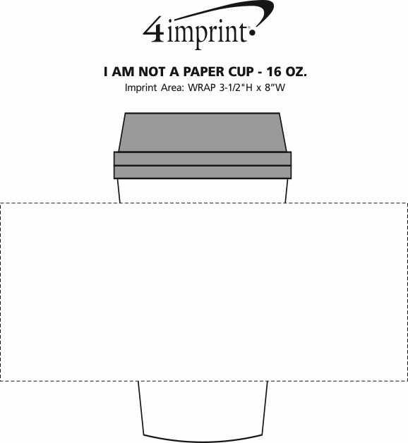 Imprint Area of I Am Not a Paper Cup - 16 oz.