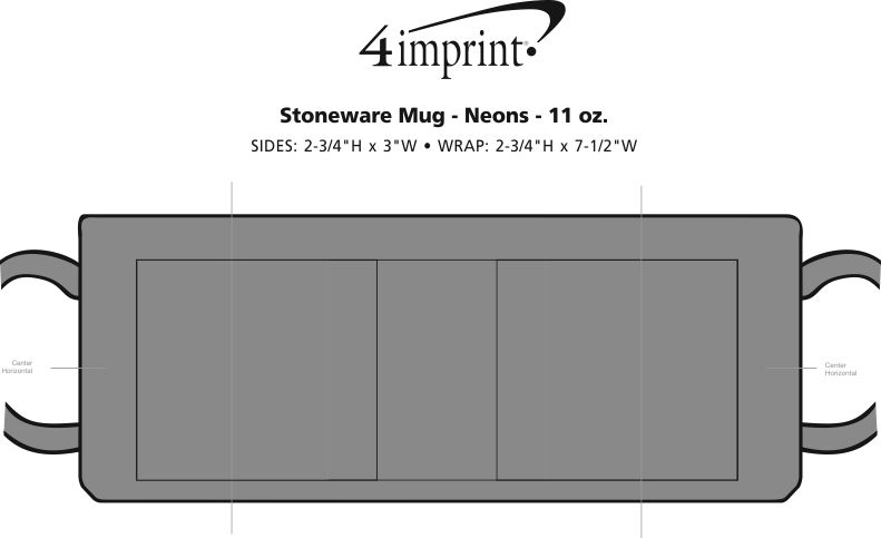 Imprint Area of Neon Coffee Mug - 11 oz.