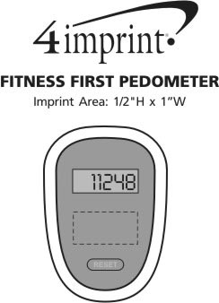 Imprint Area of Fitness First Pedometer