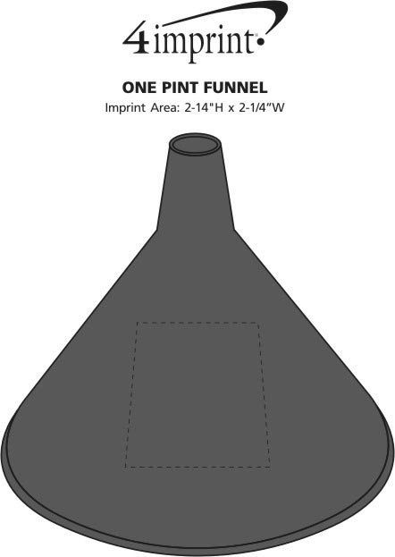 Imprint Area of One Pint Funnel