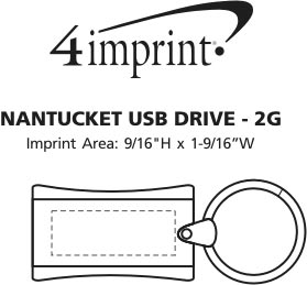 Imprint Area of Nantucket USB Drive - 2GB