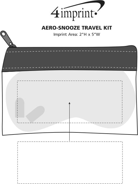 Imprint Area of Aero-Snooze Travel Kit
