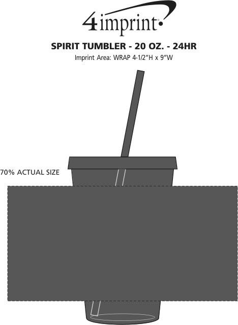 Imprint Area of Spirit Tumbler - 20 oz. - 24 hr