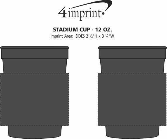 Imprint Area of Stadium Cup - 12 oz. - Smooth
