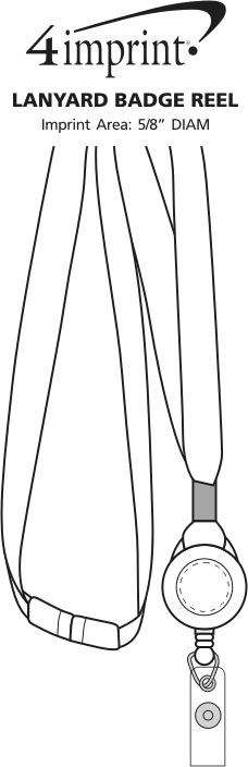 Imprint Area of Lanyard Badge Reel