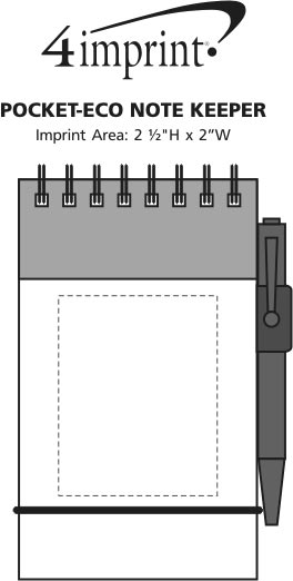 Imprint Area of Pocket-Eco Note Keeper