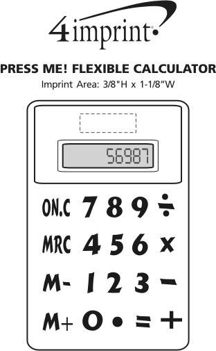 Imprint Area of Press Me! Flexible Calculator