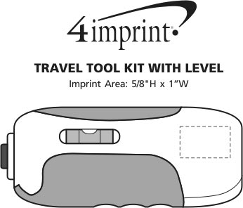 Imprint Area of Travel Tool Kit with Level
