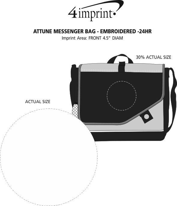 Imprint Area of Attune Messenger Bag - Embroidered - 24 hr