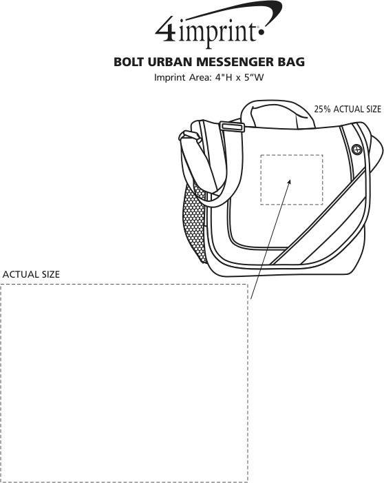 Imprint Area of Bolt Urban Messenger Bag