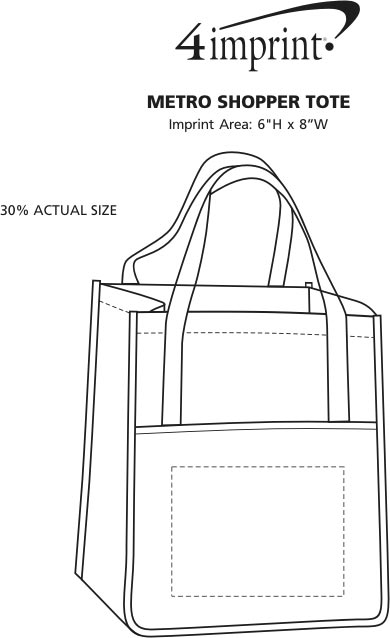 Imprint Area of Metro Shopper Tote