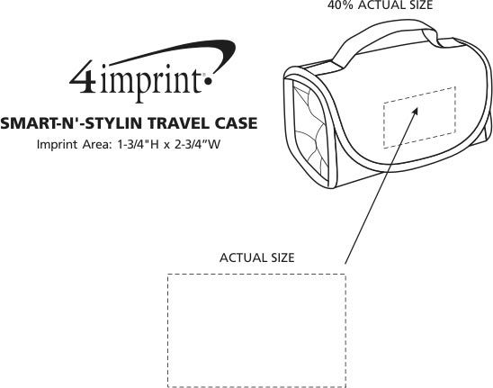 Imprint Area of Smart-n'-Stylin Travel Case