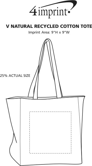 Imprint Area of Simplicity Cotton Grocery Tote