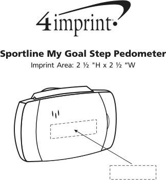 Imprint Area of Sportline My Goal Step Pedometer