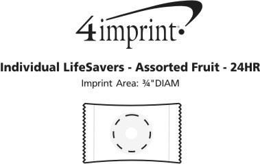 Imprint Area of Individual Life Savers - Assorted Fruit - 24 hr