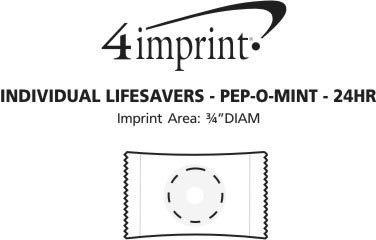 Imprint Area of Individual Life Savers - Pep-O-Mint - 24 hr