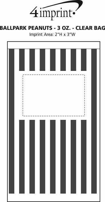 Imprint Area of Ballpark Peanuts - 3 oz. - Clear Bag