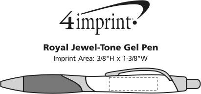Imprint Area of Royal Jewel-Tone Gel Pen