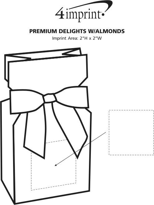 Imprint Area of Premium Delights with Almonds