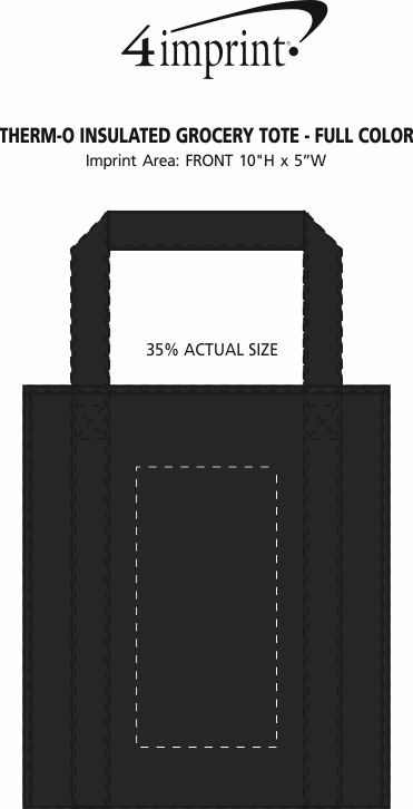 Imprint Area of Therm-O Tote Insulated Grocery Bag - Full Color