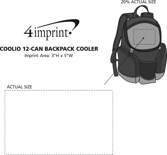 Imprint Area of Coolio 12-Can Backpack Cooler