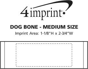 Imprint Area of Dog Bone - Medium Size