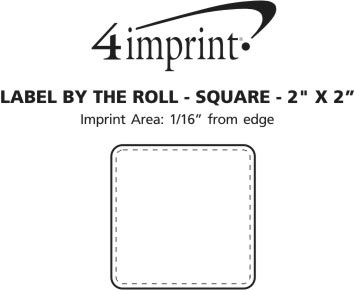 "Imprint Area of Value Sticker by the Roll - Square - 2"" x 2"""