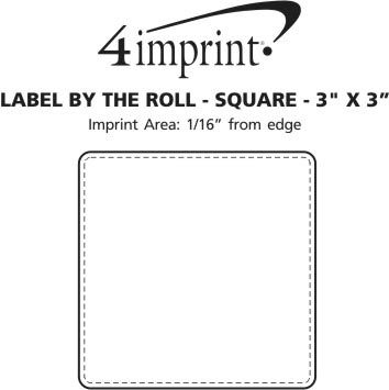 """Imprint Area of Value Sticker by the Roll - Square - 3"""" x 3"""""""