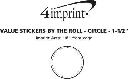 Imprint Area of Value Sticker by the Roll - Circle - 1-1/2""