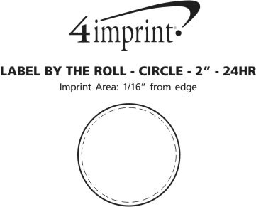 """Imprint Area of Value Sticker by the Roll - Circle - 2"""" - 24 hr"""