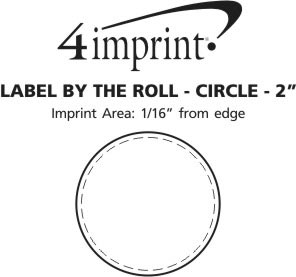 """Imprint Area of Value Sticker by the Roll - Circle - 2"""""""