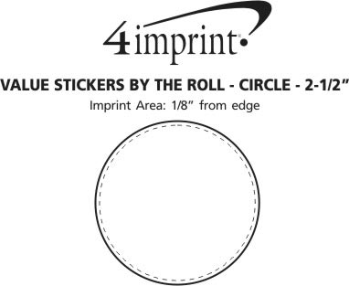 Imprint Area of Value Sticker by the Roll - Circle - 2-1/2""